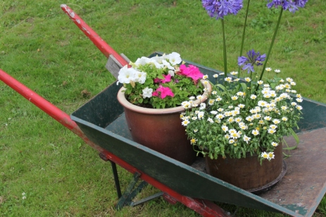 A wheelbarrow, a symbol of developement in Africa