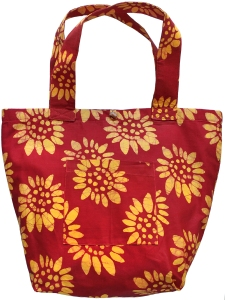 Sunflower Red Large Tote