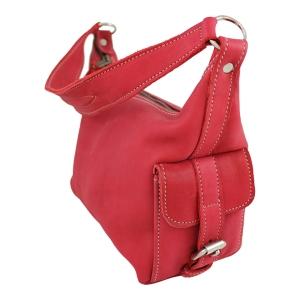 Röd läderväska
