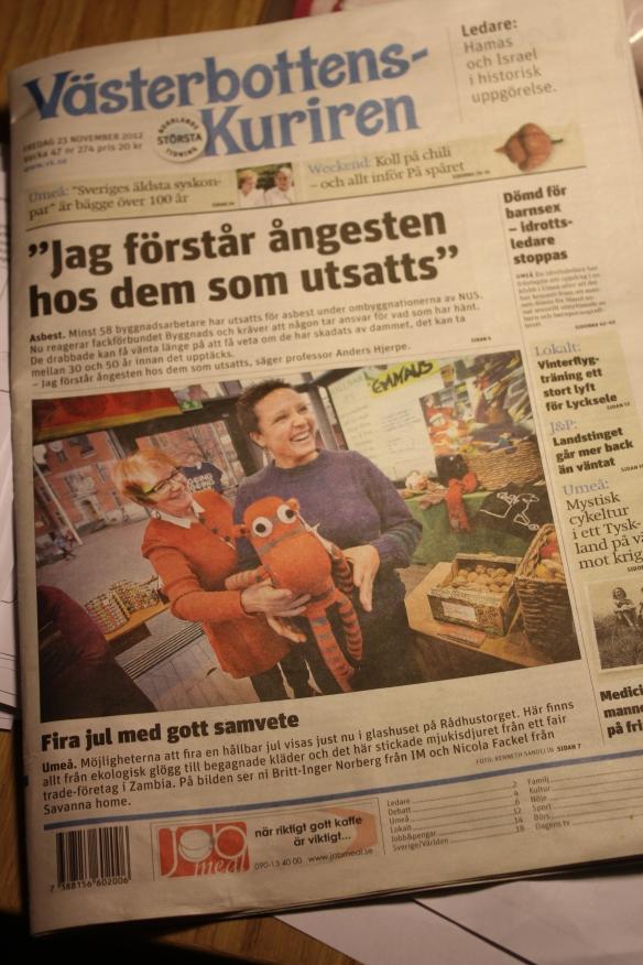 Hållbara Umeås Butiker, HUB, visar en Hållbar Jul