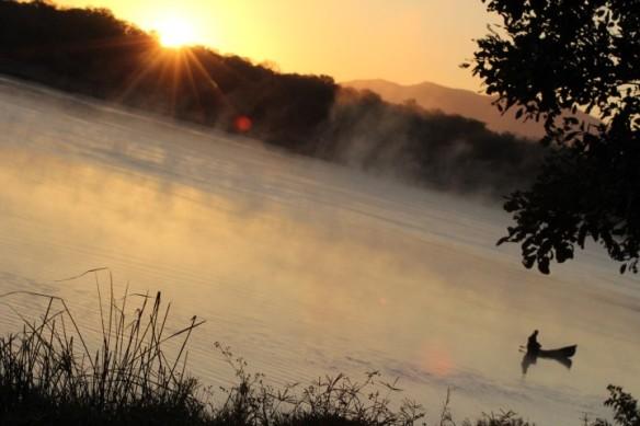 Soluppgång vid Zambezi