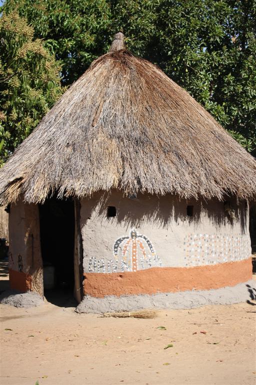 En zambisk hydda i en by utanför Kabwe