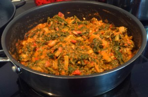 Ifisashi- pumpkin leaves with ground nuts