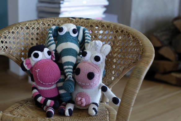 new organic knitted toys